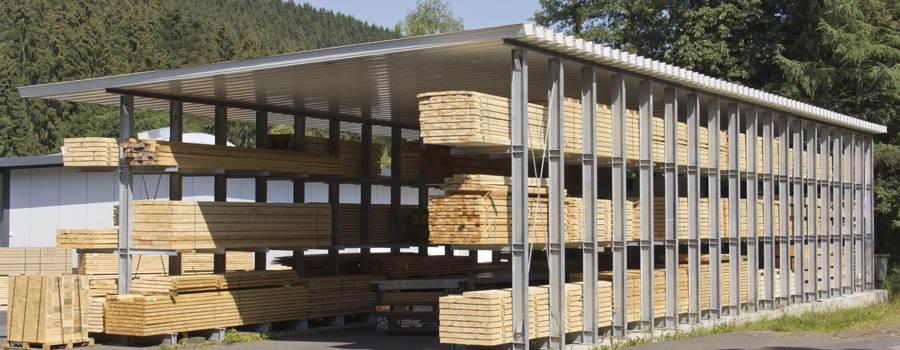 Beliebt Trapezbleche als Holzlagerabdeckung: Tipps zur Anwendung WV65