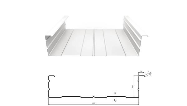 Kassettenprofil M 145/600 Stahl 0,75