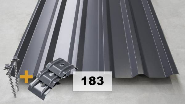 Set Nr. 183 Trapezblech + Schrauben + Kalotten