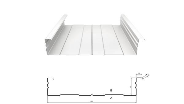 Kassettenprofil M 120/600 Stahl 1,25