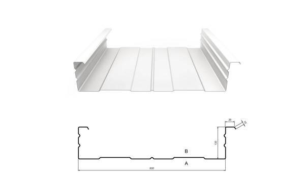 Kassettenprofil M 130/600 Stahl 0,88