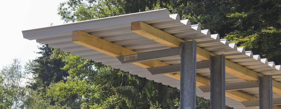 Berühmt Trapezbleche als Holzlagerabdeckung: Tipps zur Anwendung &KD_36