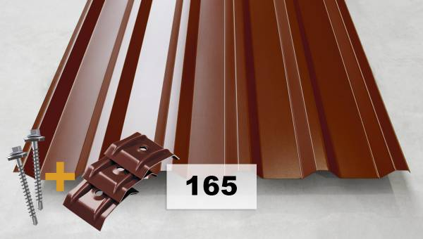 Set Nr. 165 Trapezblech + Schrauben + Kalotten
