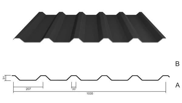 M 35.1/207 Stahl 0,63 PE 25µm