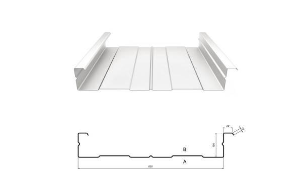 Kassettenprofil M 100/600 Stahl 1,50