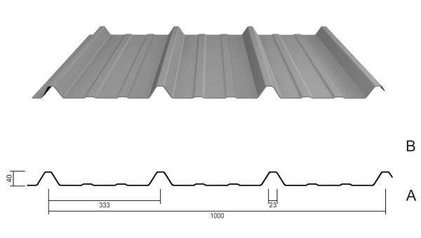 M 40KD/333 Stahl 0,75 Aluzink AntiTropf+